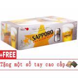 Ôn Tập Thung 24 Lon Bia Sapporo 330Ml Tặng 1 Sổ Tay Cao Cấp Sapporo