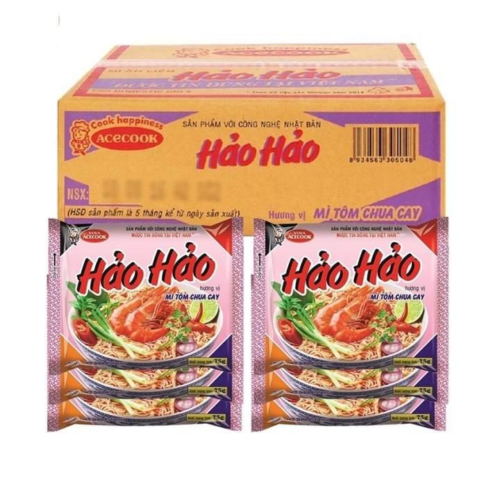 Thùng 30 gói mì Hảo Hảo vị tôm chua cay