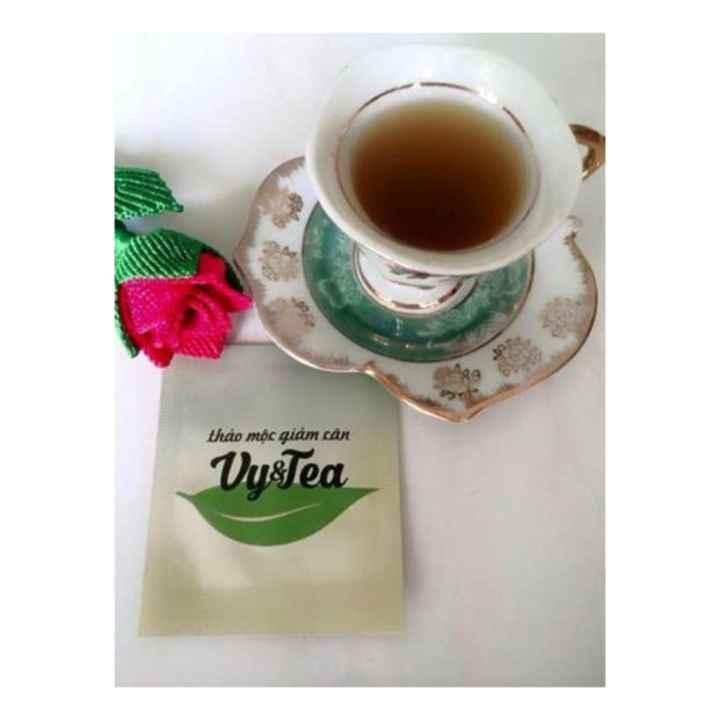 Trà thảo mộc giảm cân Vy & Tea + Tặng Gương Tròn+Thước dây 150cm