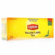 Hình ảnh Trà Túi Lọc Nhãn Vàng Lipton Hộp 50G ( 25 Gói X 2G )