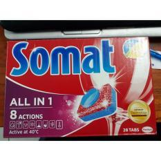 Ôn Tập Vien Rửa Somat Multi 5 Dung Cho May Rửa Chen 28 Vien