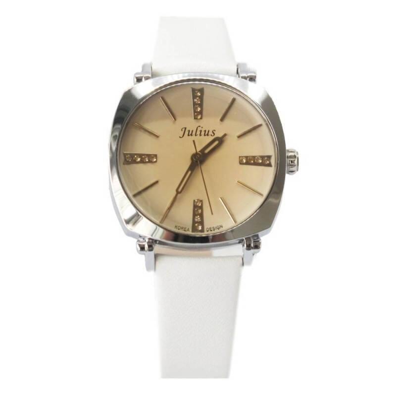 Đồng hồ nữ Julius JA-388LD màu trắng