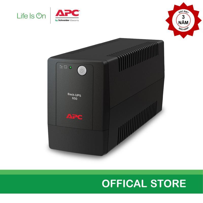 Bảng giá [Khuyến mãi- Miễn phí bảo hành năm thứ 3] - Bộ lưu điện APC: Back-UPS 650VA, 230V, AVR, Universal Sockets - BX650LI-MS Phong Vũ
