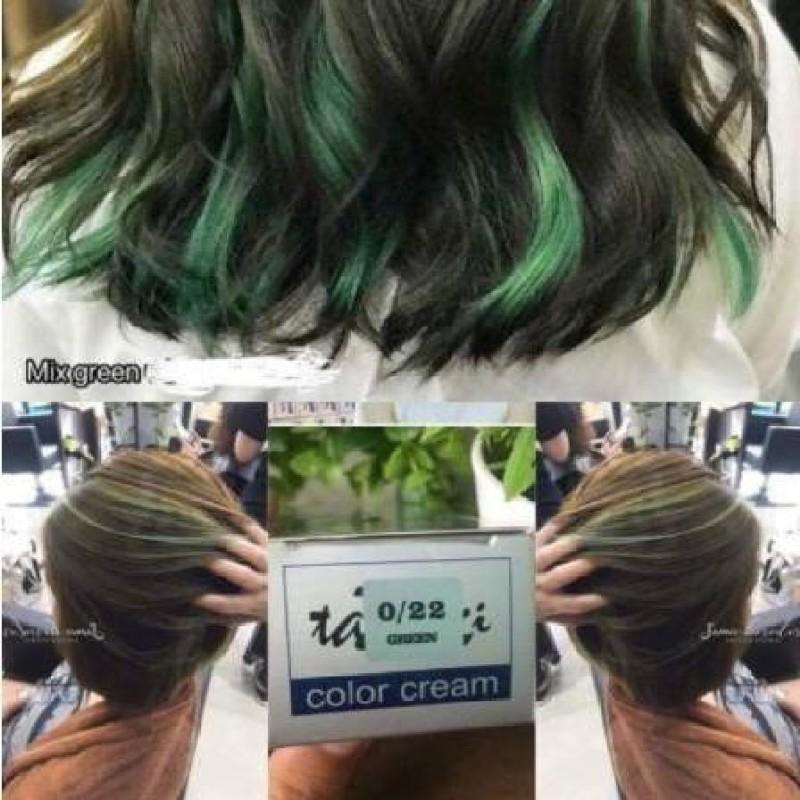 Màu nhuộm Mix Green 0.22 lung linh Tazaki 100ml cao cấp