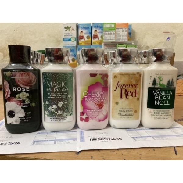 [Đủ Bill] Lotion Dưỡng Thể Bath And Body Works Nhiều Mùi