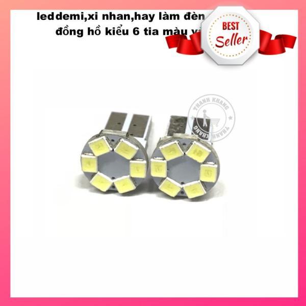 Led demi, xi nhan, hay làm đèn nền đồng hồ, kiểu 6 tia màu vàng thanh khang 003000106