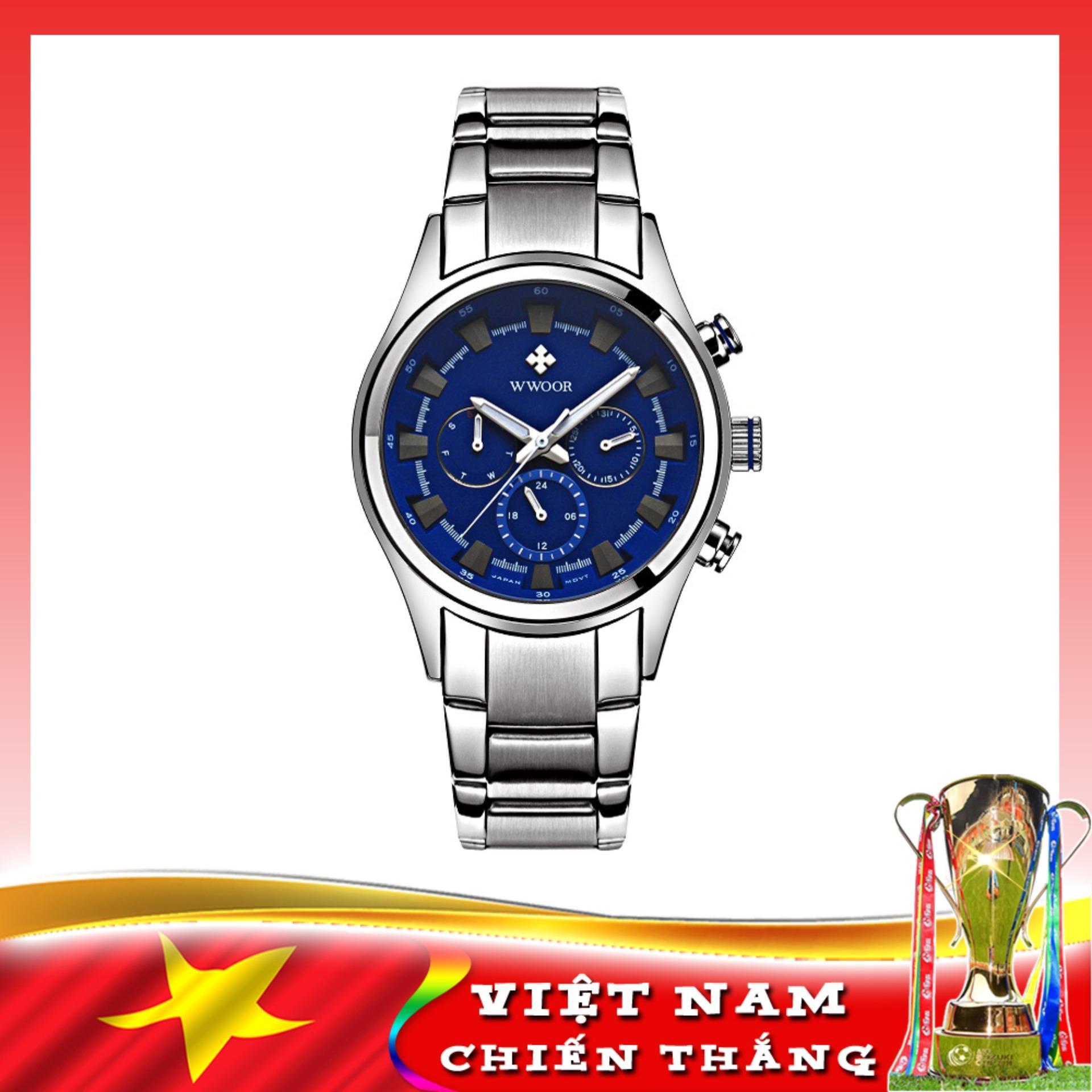Nơi bán Đồng hồ nam nhiều kim, thời trang sang trọng WWOOR 8815, tặng Pin SONY 626 Japan