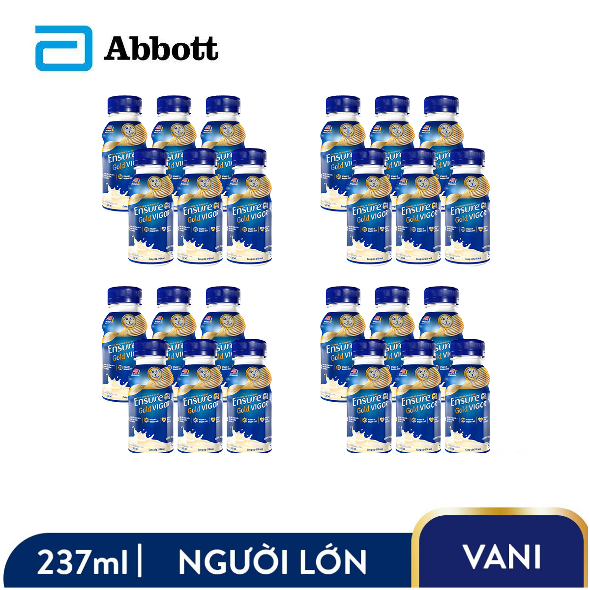 Voucher Khuyến Mãi Thùng 24 Chai Sữa Nước Ensure Gold Vigor 237ml