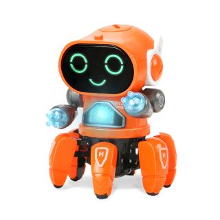 Đồ chơi Robot bạch tuộc nhảy múa có âm nhạc và đèn cho trẻ em (có 2 màu khác nhau) - INTL thumbnail