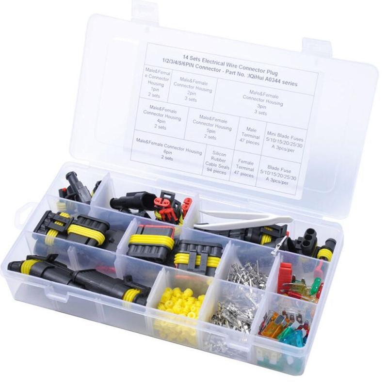 1/2/3/4/5/6 Multiple Pin Car Waterproof Electrical Terminal Sealed Waterproof Electrical Automotive Wire Connector Plug Terminals for Car
