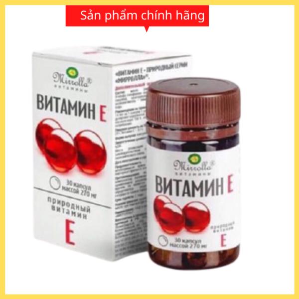 Vitamin E đỏ Nga viên uống đẹp da chống lão hóa , giảm mụn nám tàn nhang , hỗ trợ hệ tim mạch , cân bằng nội tiết tố