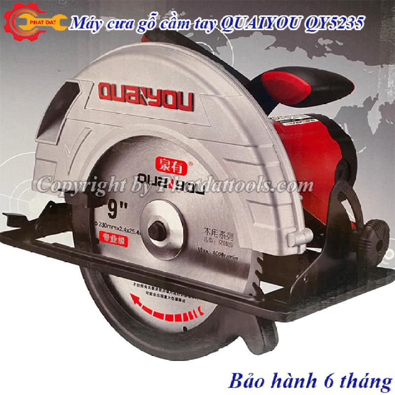 Máy cưa gỗ cầm tay cỡ lớn QUAIYOU QY5235-Công suất 2100W-Kèm lưỡi cưa D230mm-Bảo hành 6 tháng