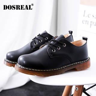 Giày Thời Trang Doseral Giày Da Nữ Giày Oxford Đế Dày Giày Đế Bệt Giày Hàn Quốc Cho Nữ Giày Đen Nữ Giản Dị