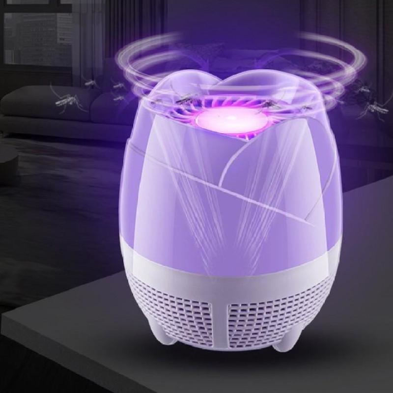 Đèn bắt muỗi cao cấp hình bông sen kiêm đèn ngủ đa năng