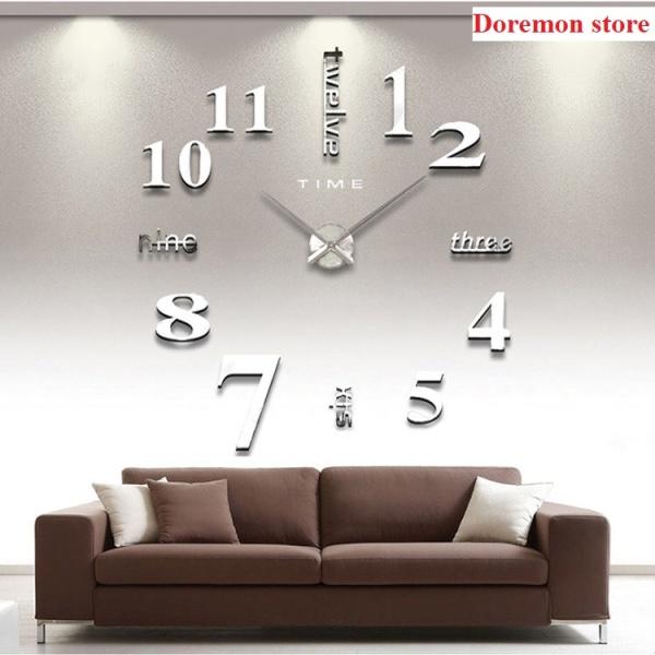 Đồng hồ decor dán tường số lớn điểm nhấn cho mọi không gian, dong ho treo tuong ,dan tuong co lon bán chạy