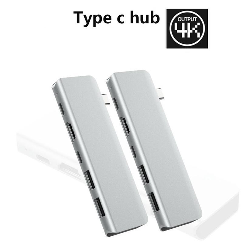 5 in 1 USB-C Hub 4K 60HZ Type C Hub USB Adapter Support 87W Charging for MacBook Pro / TV