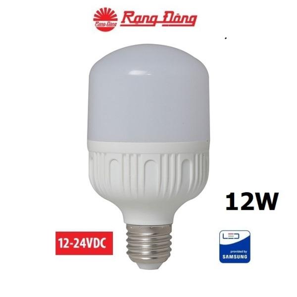 [Lấy mã giảm thêm 30%]Bóng đèn 12V - 24V LED 12W E27 Rạng Đông có kẹp chipled Samsung Mới