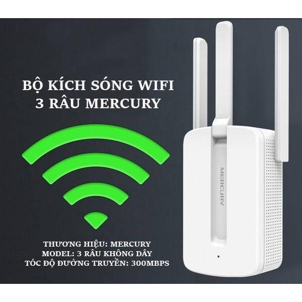 Bảng giá Bộ kích sóng wifi 3 râu Mercury cực mạnh MW310RE Phong Vũ