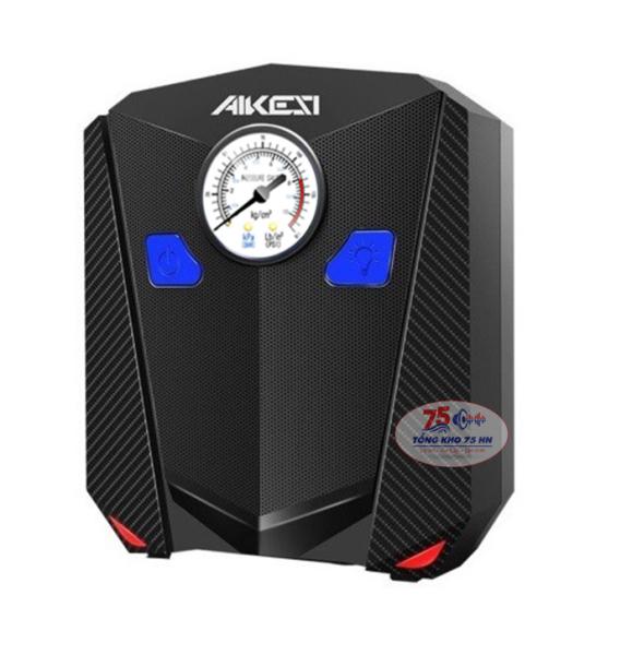 Bơm lốp ô tô xe hơi điện tử AIKESI tiết kiệm thời gian thay lốp dự phòng trang bị đèn Led đồng hồ hiển thị áp suất [Bảo hàng 3 tháng]