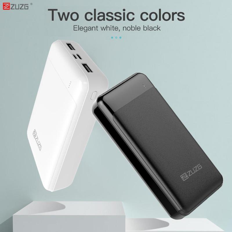 Giá ZUZG Pin sạc dự phòng 20000 Mah Power-Bank External-Battery - Cổng Usb-Type Micro - Công nghệ Quick-Charge cho Xiaomi iPhone Huawei Samsung
