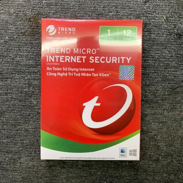 Bảng giá Thẻ diệt viruts Trend Micro Internet security Phong Vũ