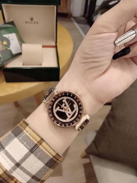 Nơi bán [Ở ĐÂU RẺ HƠN SHOP HOÀN TIỀN] Đồng hồ nữ LV thời trang, dây da PU cao cấp - Bảo hành 12 tháng