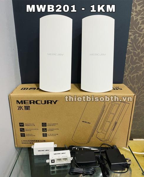 Bảng giá Bộ Thu Phát Wifi Không Dây Ngoài Trời Cho Camera IP Khoảng Cách 1KM- Mercury MWB201 Phong Vũ