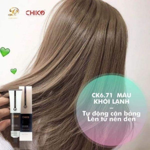 kem nhuộm tóc màu nâu khói lạnh (kèm oxi và găng tay) cao cấp