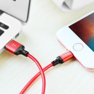 [ Mã giảm giá 60k cho đơn hàng từ 400k ] Cáp sạc nhanh và truyền dữ liệu Lightning Hoco X14 sạc nhanh 2A MAX dây sạc bọc dù chống rối chống đứt dành cho iPhone XS max iPhone 11 iPhone 11 Pro max dài 100cm 6