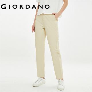 Quần dài Nữ GIORDANO Women Kiểu giản dị mỏng nhẹ Cạp chun 100% vải cotton Màu thuận Item basis Thời trang Mảnh khảnh Mùa hè 13421025 thumbnail