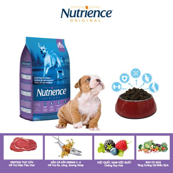 Thức Ăn Cho Chó Bulldog Nutrience Original Phát Triển Cơ Bắp, Xương Sụn Cơ Khớp, Hệ Miễn Dịch, Hệ Tiêu Hóa Khỏe Mạnh, Da Lông Bóng Mượt - Thịt Cừu, Rau Củ Và Trái Cây Tự Nhiên