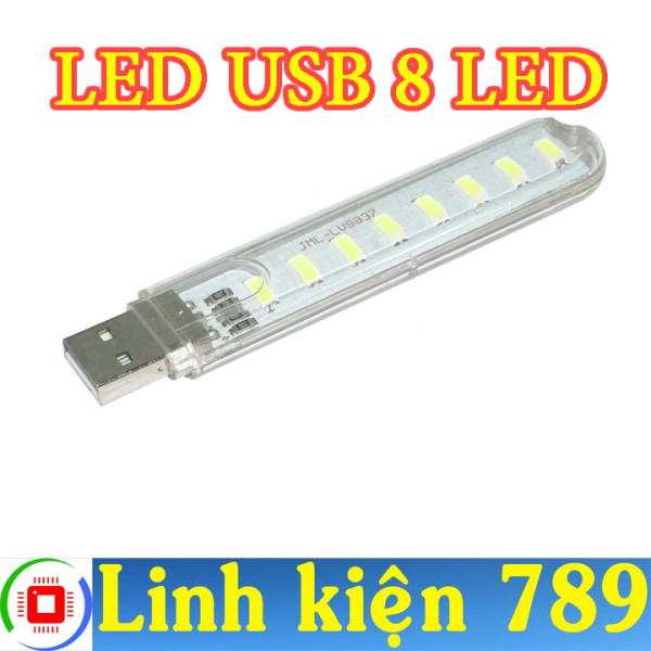 Bảng giá Đèn LED USB 8 LED sáng trắng - Linh Kiện 789 Phong Vũ