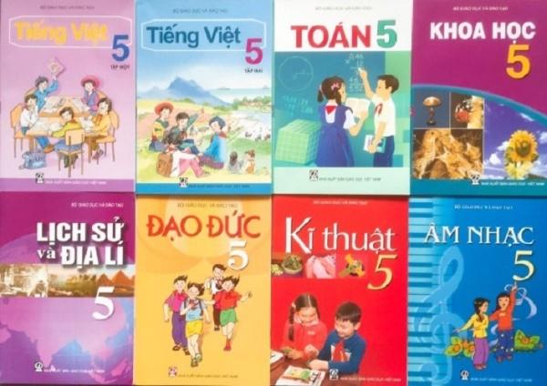 Bộ sách giáo khoa lớp 5 - 8 quyển