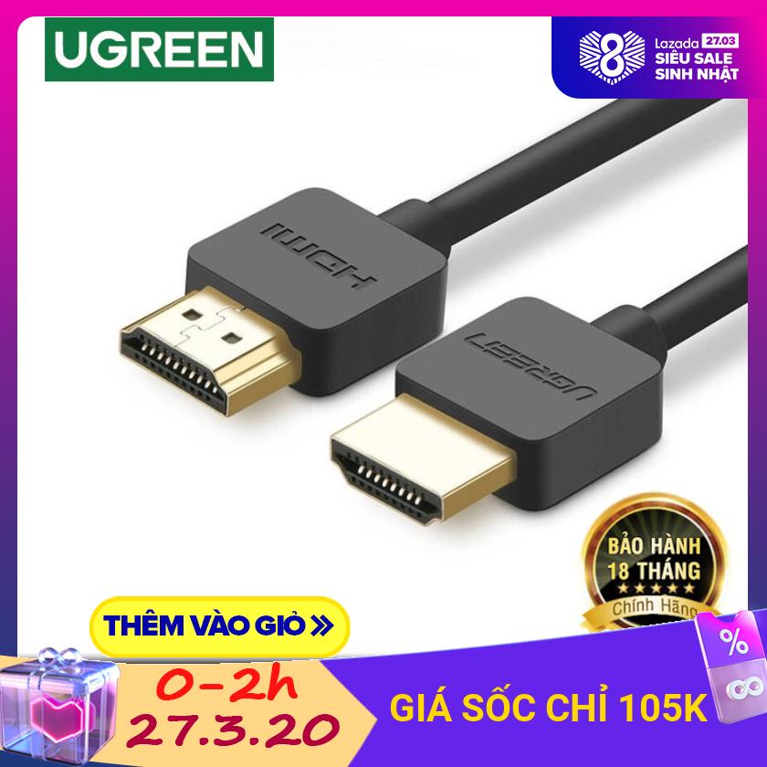 Bảng giá Dây HDMI 1.4 thuần đồng 19 + 1, dài 1.5-2M UGREEN HD121 Điện máy Pico