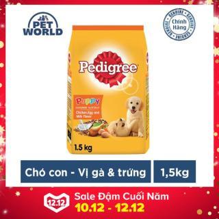 Thức ăn chó con Pedigree vị gà trứng và sữa dạng túi 1.5kg thumbnail