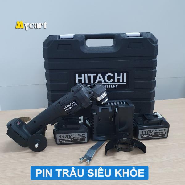 Máy cắt cầm tay HITACHI 118V, Máy mài góc, Máy cắt pin, 02 pin 10 cell, không chổi than