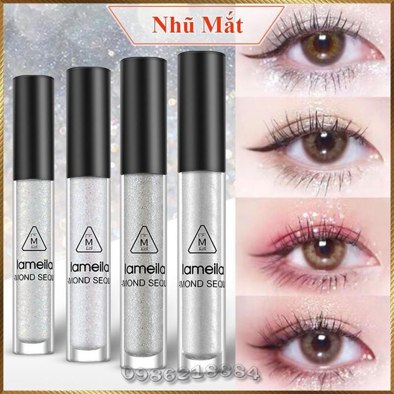 Nhũ mắt gel nhũ kim tuyến lấp lánh Diamond Lameila trang điểm mắt NDL4 cao cấp
