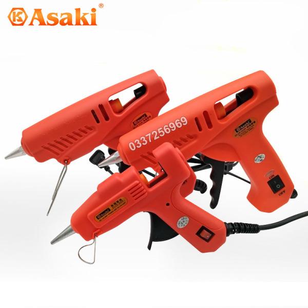 Súng keo nến 60w Asaki Nhật Bản AK-9023 tặng kèm 5 thanh bắn keo loại to