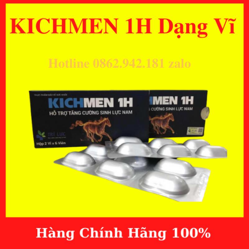 Viên KICHMEN 1H (2 vỉ x 6 viên ) cao cấp tăng cường sinh lý nam mạnh mẽ - hàng chính hãng- AN001
