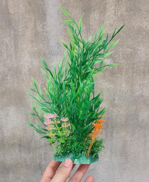 Cây nhựa trang trí bể cá: mẫu khóm tre