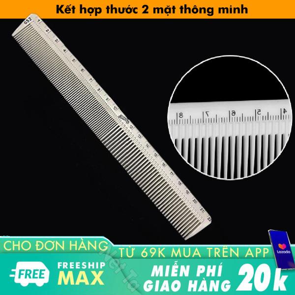 Lược cắt tóc, chia ngôi tóc nam nữ kết hợp thước đo tiện dụng chịu nhiệt tốt, không biến dạng siêu bền siêu nhẹ