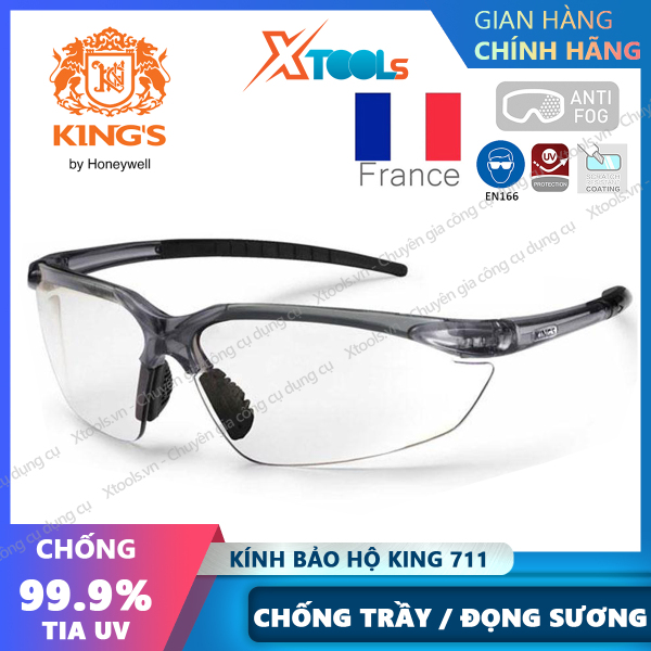 Giá bán Kính bảo hộ Kings KY711 Kính chống bụi, chống đọng sương, chống tia UV, trầy xước, bảo vệ mắt khi đi xe máy, lao động [XTOOLs][XSAFE]