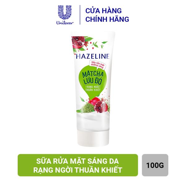 Sữa Rửa Mặt Hazeline Dưỡng Sáng Da Matcha & Lựu Đỏ (100g)