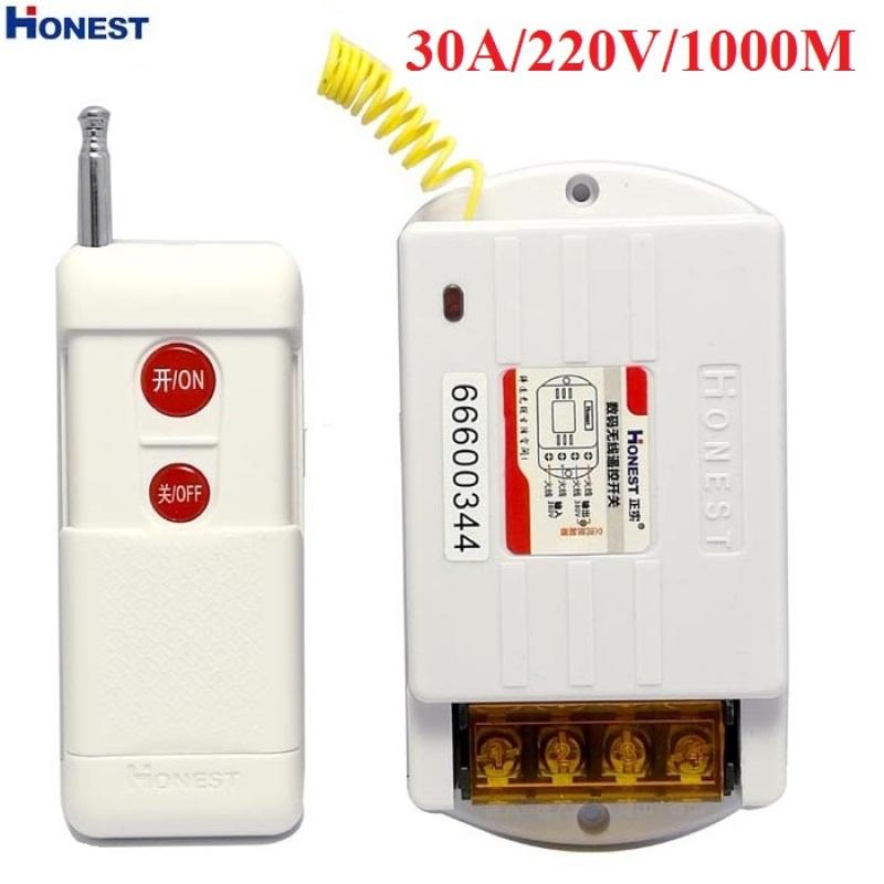 Bộ công tắc điều khiển từ xa 1KM công suất lớn 30A/220V sóng RF315 xuyên tường 6220ZR công tắc điện thông minh bật tắt máy rửa xe máy bơm nước động cơ