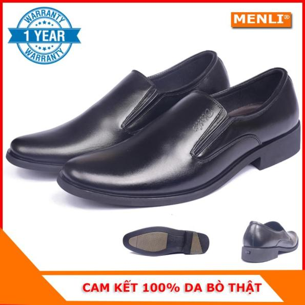 [MIỄN SHIP] Giày lười giày mọi nam da bò MENLI GLLZ67 sang trọng (FORM LỚN) giá rẻ