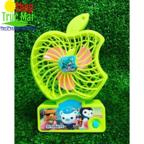 Bảng giá Quạt mini hình quả táo bằng nhựa tặng kèm pin và được chọn màu - 1 quạt hình Táo Phong Vũ