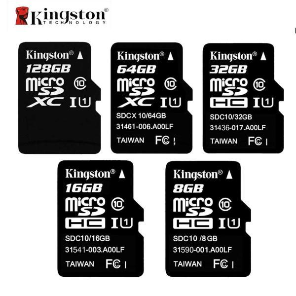 Thẻ nhớ microSDHC Kingston 8GB / 16GB Class 10 U1 80Mb/s (Đen) - Không Box - Phụ Kiện 1986