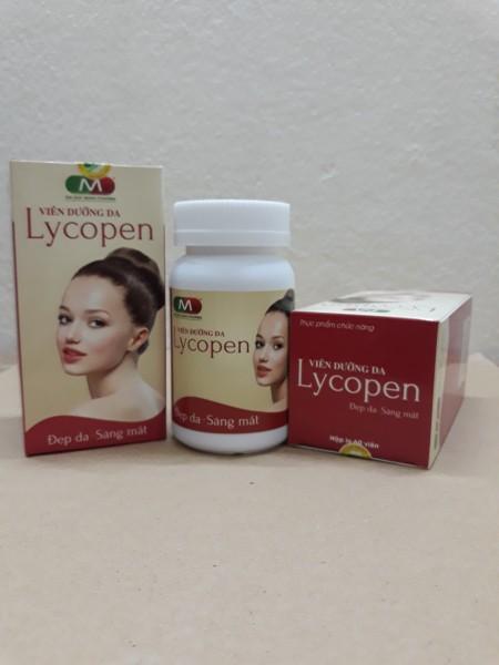 Viên dưỡng da Lycopen - Đẹp da, sáng mắt - Chiết xuất từ sữa ong chúa, dầu gấc - Hộp lọ 60 viên nang mềm - vietanpharma