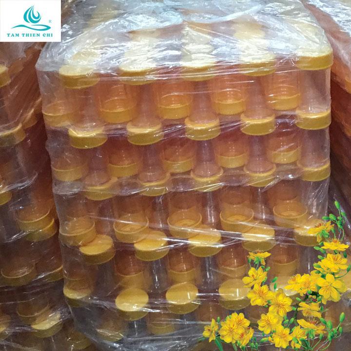 Lọ nhựa lưu mẫu có nắp màu vàng không nhãn túi 20 cái TTC cao cấp