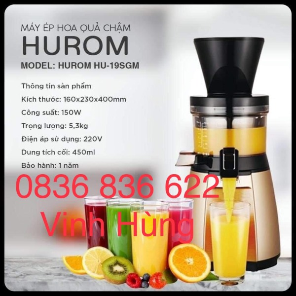 Bảng giá Máy ép chậm, máy ép trái cây Hurom HU-19SGM cao cấp Điện máy Pico
